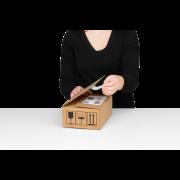 Versandbox ECO mit doppeltem Selbstklebeverschluss
