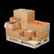 KLT-Behälter (Kleinladungträger) aus Wellpappe, stapelbar