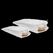 Papierfaltenbeutel weiß aus Pergamin
