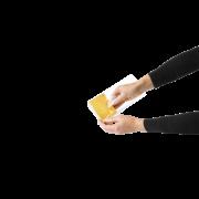 Kartoneinlage gold/weiß zu Blockbodenbeuteln