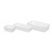 Karton-Backform rechteckig, weiß