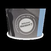 Heißgetränke-Becher PE-beschichtet «delicious memory»