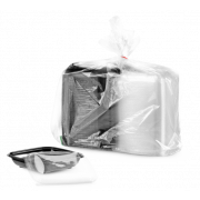 Salatschale aus PET quadratisch mit Deckel