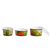 Salatbecher aus Karton & Deckel