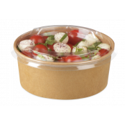 Salatschale aus Karton braun