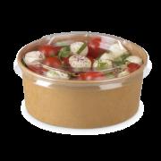 Salatschale aus Karton braun rund