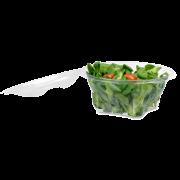 Salatschale aus rPET LIGHT rund mit Deckel