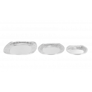 Servierplatte aus Alu, oval