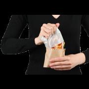 Snack-Bag braun mit Pergamin-Sichtfenster