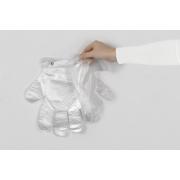 Einweghandschuh aus HDPE transparent