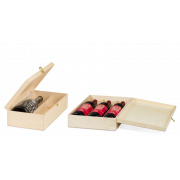 Holzkassette mit Scharnierdeckel
