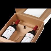 Flaschen-Geschenkkarton mit Sichtfenster