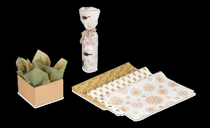 Geschenk- & Flaschenwickelpapier gemustert