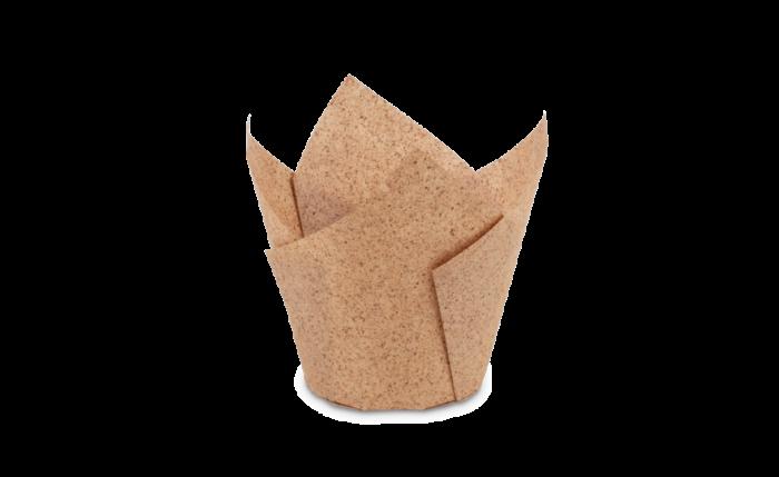 Tulip-Cup, 150×150 mm, hellbraun «Kakao»