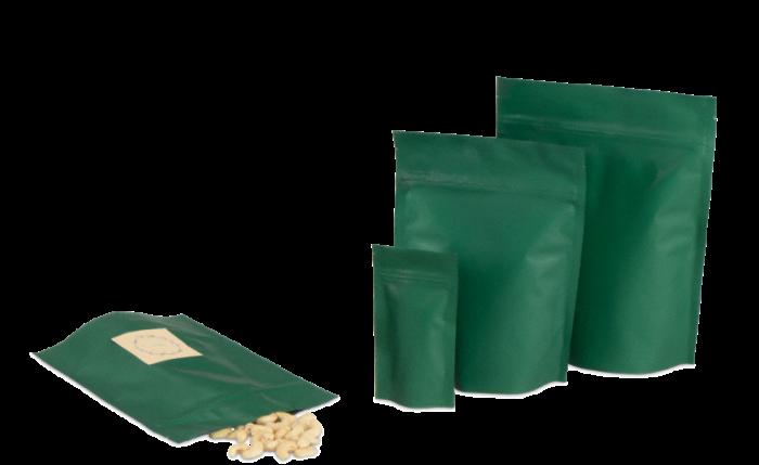 MECASEAL Aromabeutel mit Standboden, grün matt