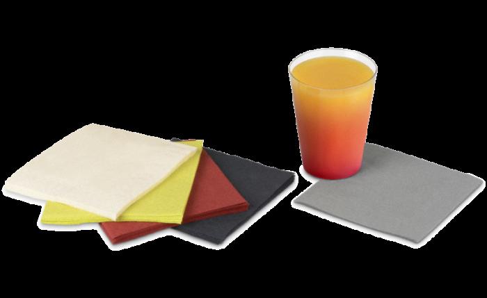 Zelltuch-Serviette farbig 24x24 cm, 1/4-Falz