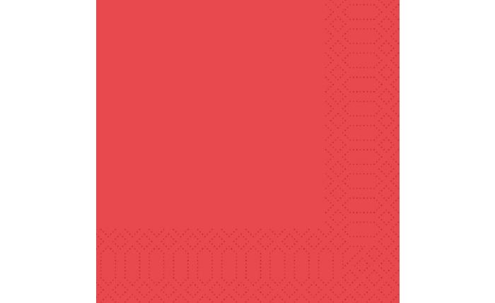 Zelltuch-Serviette 33×33 cm, rot