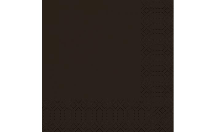 Zelltuch-Serviette 33×33 cm, schwarz