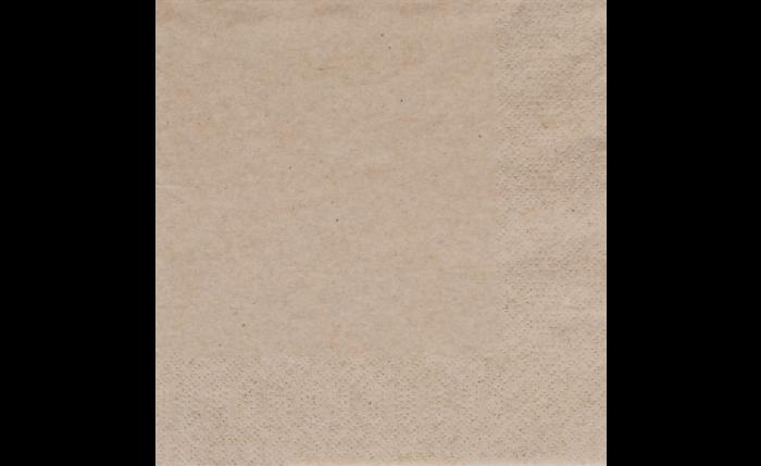 Zelltuch-Serviette 40×40 cm, braun