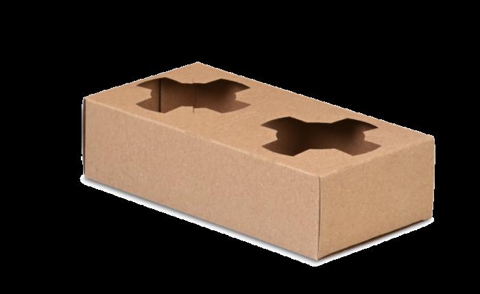 Tragehilfe für 2 Becher aus Karton