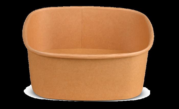 Schale aus Karton braun eckig, 170×170×70 mm