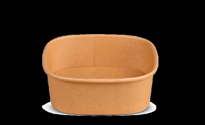 Schale aus Karton braun eckig, 130×130×46 mm