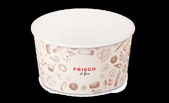 Salatschale aus Karton «FRISCH & fein», 1000 ml