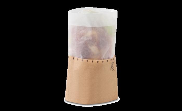 Snack-Bag M braun mit Pergamin-Sichtfenster