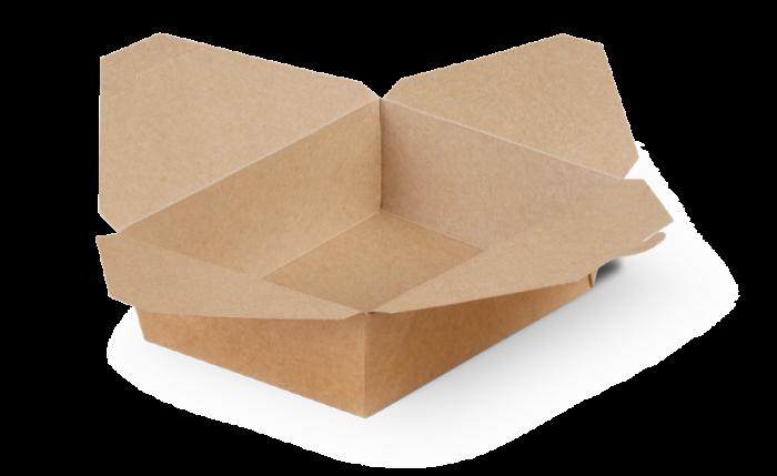 Mitnahme-Box eckig braun, XL