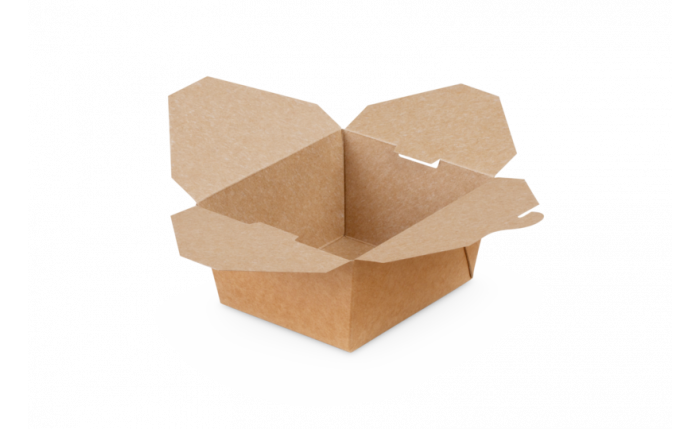 Mitnahme-Box eckig braun, S