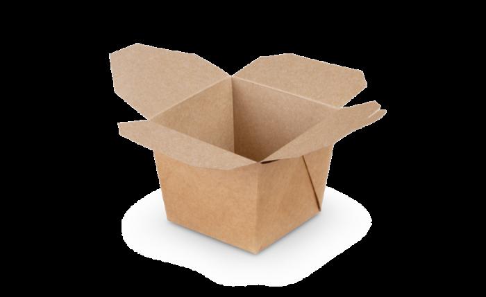 Mitnahme-Box eckig braun, M