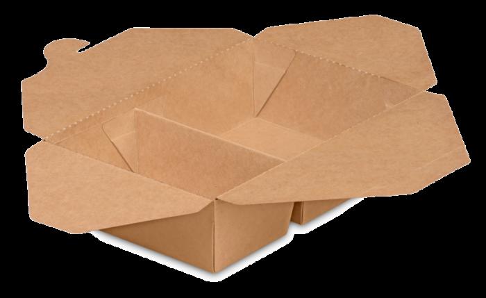 Mitnahme-Box eckig braun 2-geteilt PREMIUM, XL