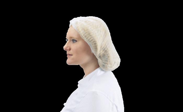 Einweg-Kopfbedeckung weiß