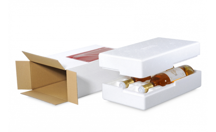 MECATHERM® Flaschen-Versandverpackung Styropor® (EPS / Airpop®)