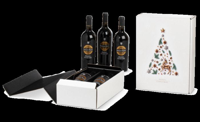 Flaschen-Geschenkkarton X-MAS TREE