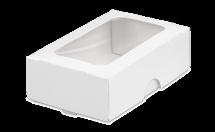 Mini-Geschenkbox mit Sichtfenster weiß 90×58×30 mm
