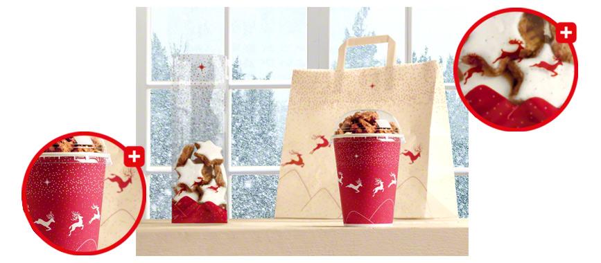 Weihnachtsverpackungen im einheitlichen Design