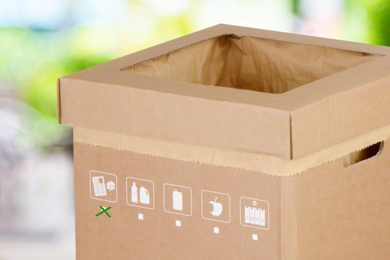 Abfallsammler Wellpappe Rausch Verpackung