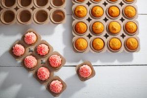 Muffintray aus Kakaopapier