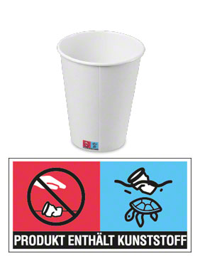 Kennzeichnungspflicht Einweg-Getränkebecher mit Kunststoff-Anteil