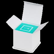 Karton-Box weiß mit Blitzboden