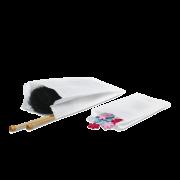 Papierfaltenbeutel weiß