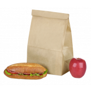 Lunchtüte aus Kraftpapier
