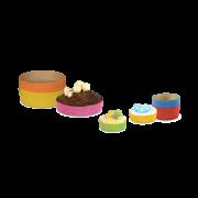 Kuchen-Backform rund farbig