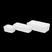 Karton-Backschale rechteckig, weiß