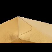 Gebäckschale konisch, braun/gold