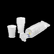 Heißgetränke-Becher PE-beschichtet weiß