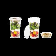 Aufsatzbecher aus rPET zu Clear Cup aus rPET