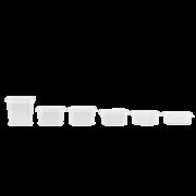 Feinkostbecher aus PP rechteckig & Deckel
