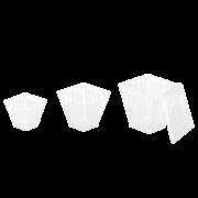 Pyramidschale aus PS & Deckel aus PET